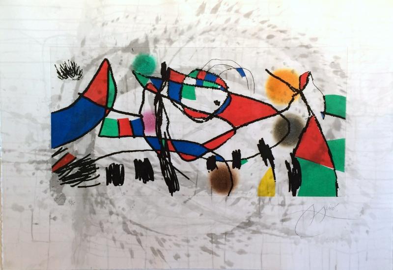 Gravura água tinta Miró
