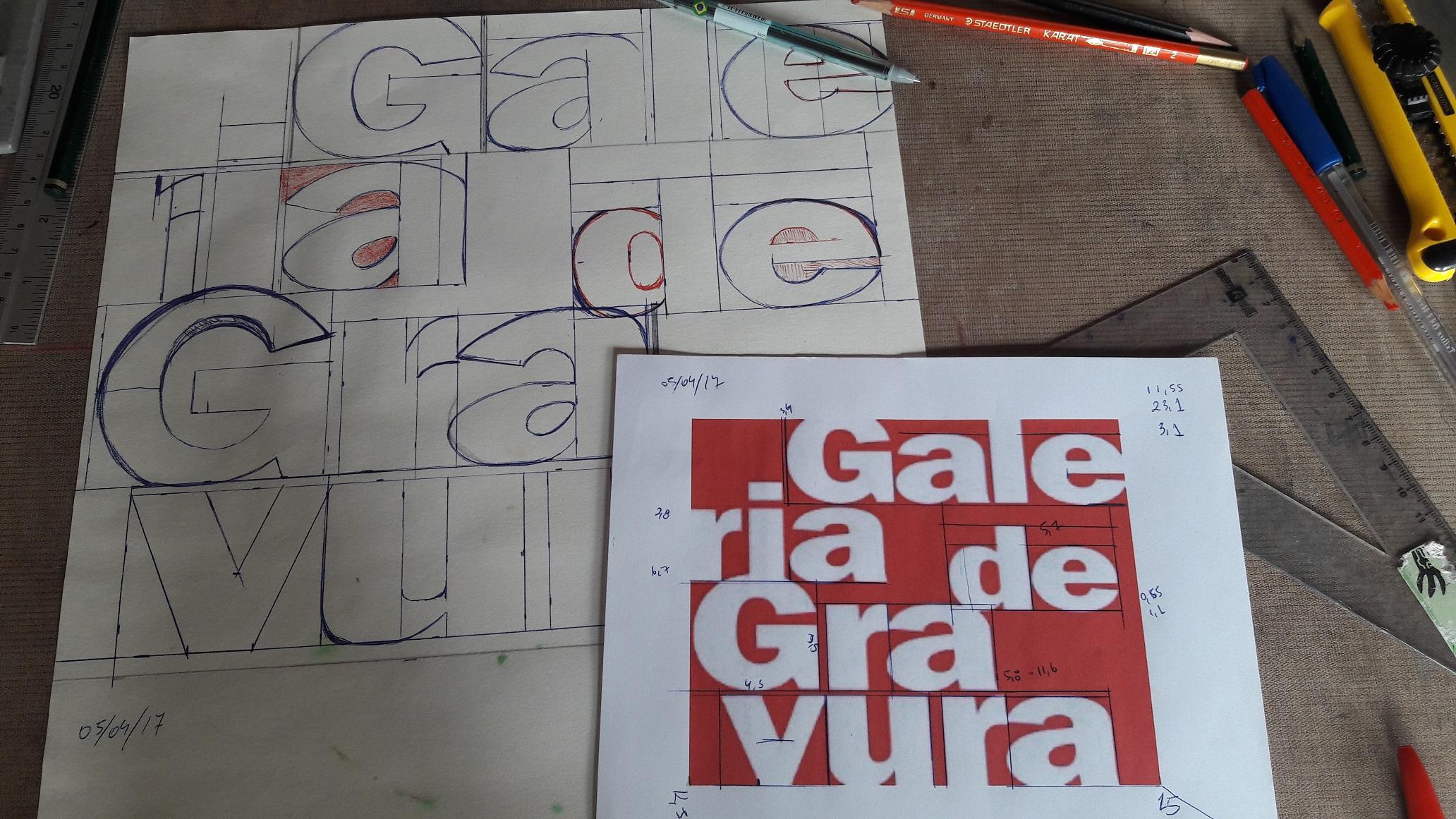 Produção gravura Galeria de Gravura - Transferência do desenho para matrix