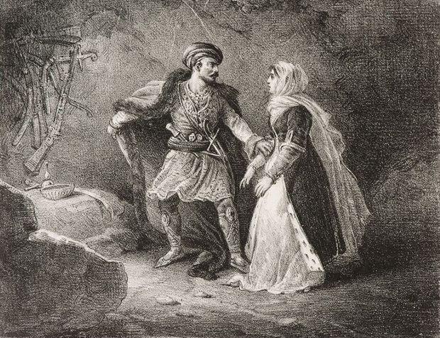 'La Fiancée dAbydos' (1823), de Theodore Gericault (1791-1824)