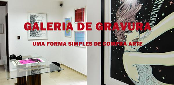 Vista interna da Galeria de Gravura unidade Floripa