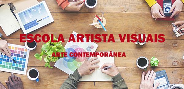 Banner da Escola Artistas Visuais da Galeria de Gravura