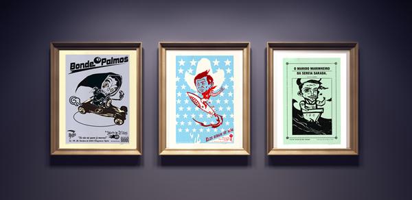 Obras da coleção produzidas pelo artista Speto