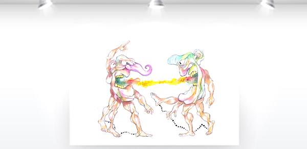 Colagens da importante artista Mariza Dias Costa