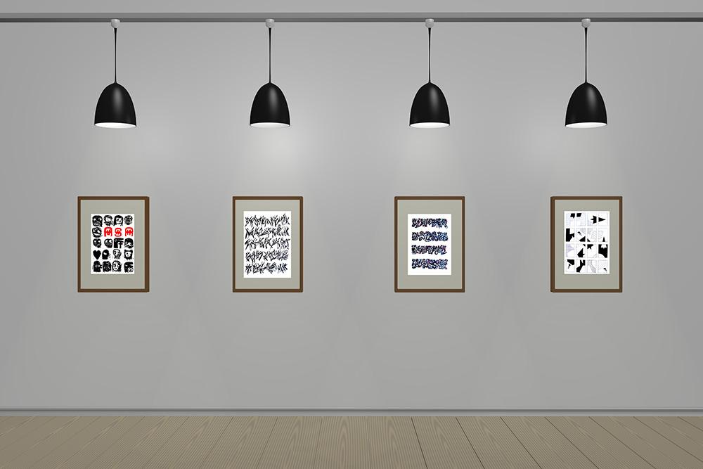Ambiente estilo museu com Léon Ferrari