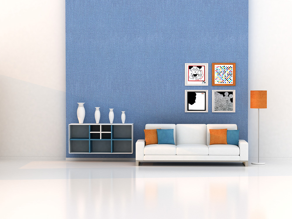 Decoração da sala com Fernando Ribeiro