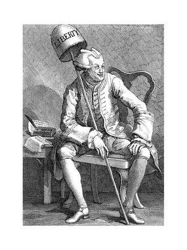 'John Wilkes' (1763), de William Hogarth (1697-1764)