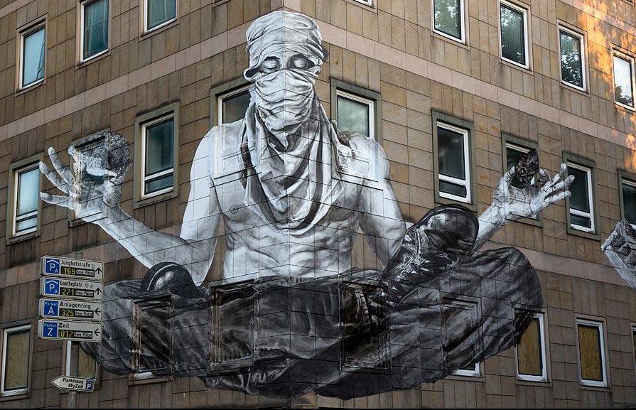 Grafite de Alexandre Orion Street Art Masterpiece em Frankfurt