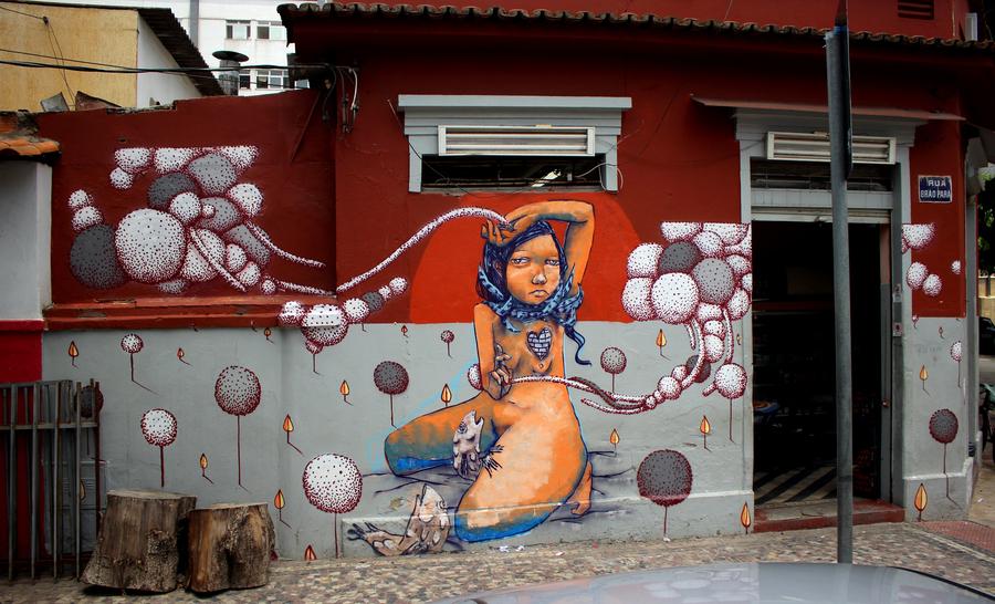 Grafite de Thiago Alvim com Magrela