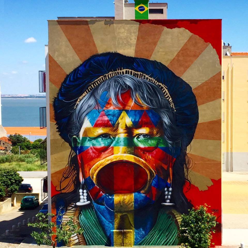 Grafite de Eduardo Kobra Mural em Portugal (Lisboa)