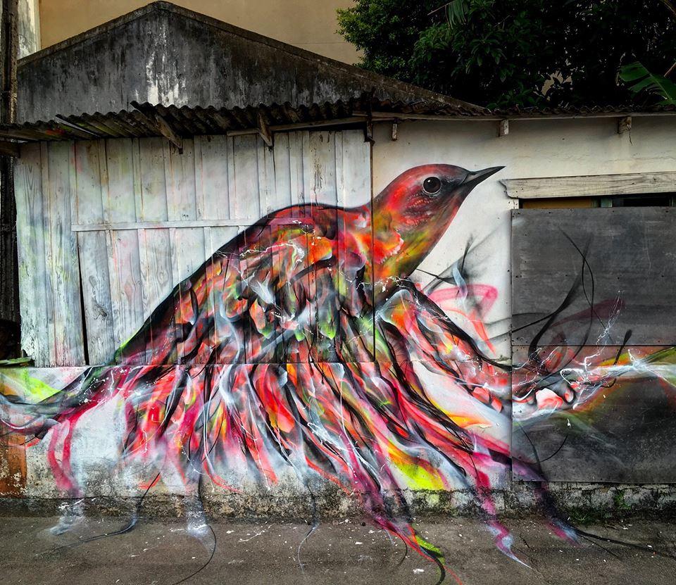 Grafite de L7m Artwork em Florianópolis Brasil