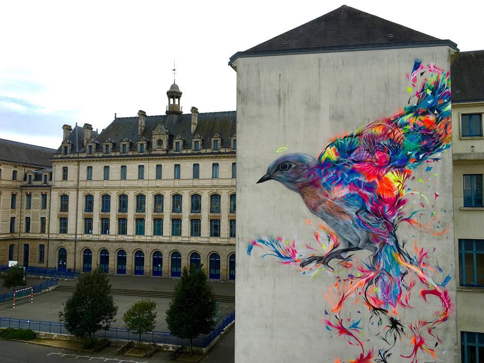 Grafite de L7m - Vannes - Bretagne - França