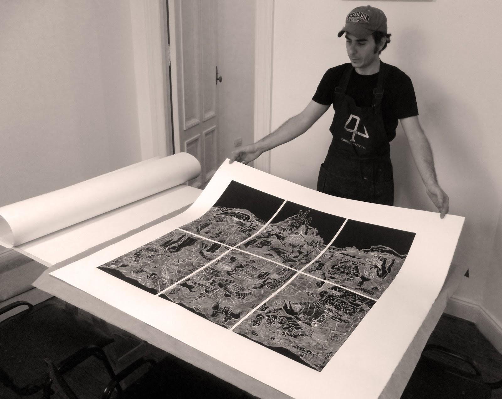 Gabriel Barna - Gravura em grande formato