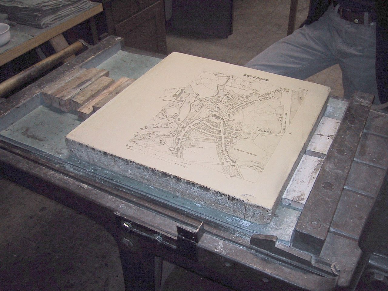 Pedra de calcário litográfica