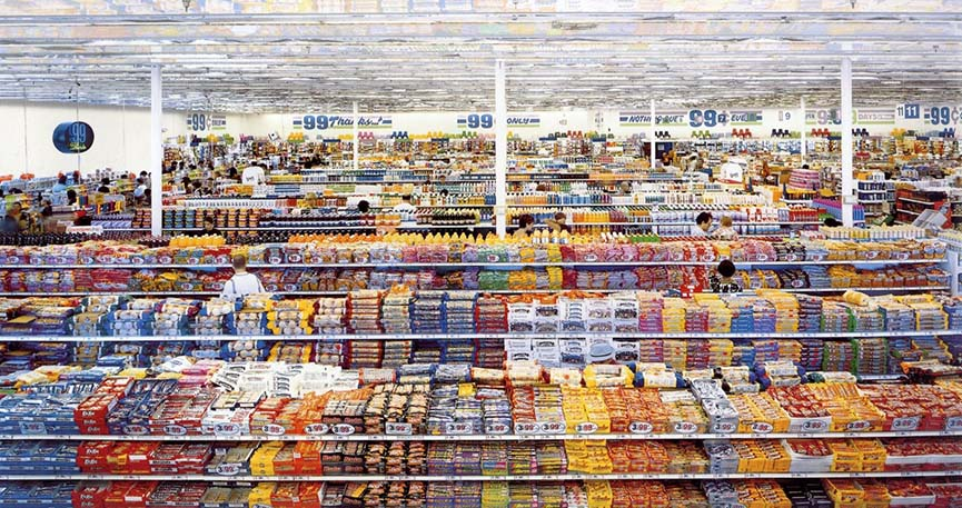 "Andreas Gursky's ""99 Cent II Diptychon"" (2001) sold for $3,346,456 in 2006"