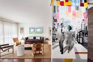 Kobra - A arte na sala tem significado afetivo para o morador: o desenho é baseado em uma foto de seus avós. Ideia da arquiteta Maria di Pace (Foto: Edu Castello / Editora Globo)